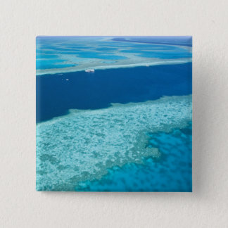 Aerial view of The Great Barrier Reef by the 15 Cm Square Badge