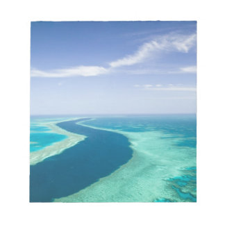Aerial view of The Great Barrier Reef by the Notepad
