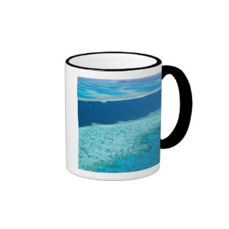 Aerial view of The Great Barrier Reef by the Ringer Mug