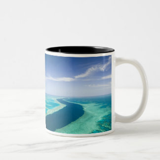 Aerial view of The Great Barrier Reef by the Two-Tone Mug