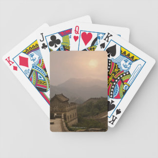 Aerial view of the Great Wall of China Bicycle Playing Cards