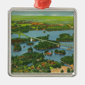 Aerial View of the International Bridge Christmas Ornament