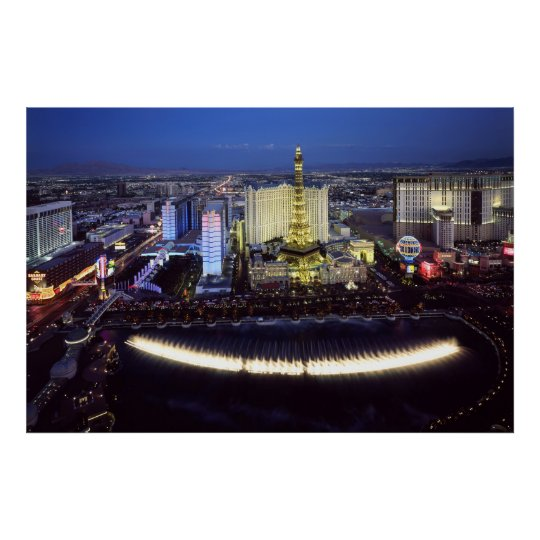 Aerial view of the Las Vegas Strip at