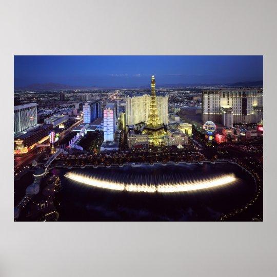 Aerial view of the Las Vegas Strip at