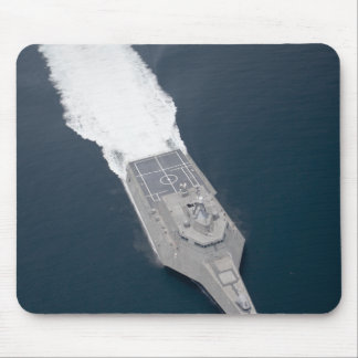 Aerial view of the littoral combat ship mouse mat