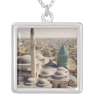 Aerial view of the Mevlana Tekke Silver Plated Necklace
