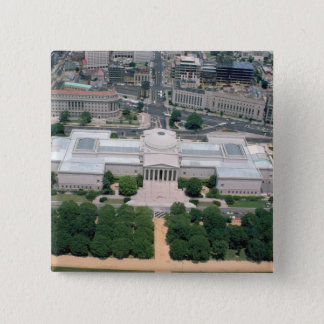 Aerial view of the National Gallery of Art 15 Cm Square Badge