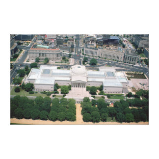 Aerial view of the National Gallery of Art Canvas Print
