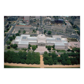 Aerial view of the National Gallery of Art Poster
