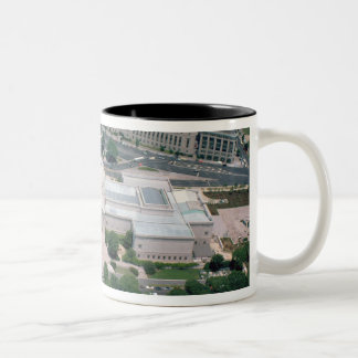 Aerial view of the National Gallery of Art Two-Tone Coffee Mug