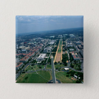 Aerial view of the National Mall 15 Cm Square Badge