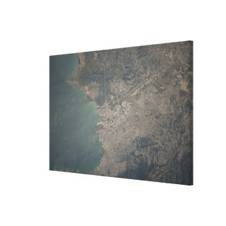 Aerial view of the Port-au-Prince area of Haiti Canvas Print