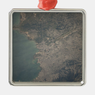 Aerial view of the Port-au-Prince area of Haiti Christmas Ornament