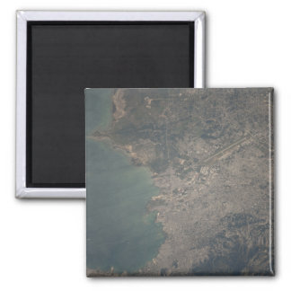 Aerial view of the Port-au-Prince area of Haiti Magnet