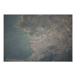 Aerial view of the Port-au-Prince area of Haiti Photo Print