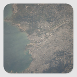 Aerial view of the Port-au-Prince area of Haiti Square Sticker