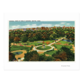 Aerial View of the Public Gardens # 2 Postcard