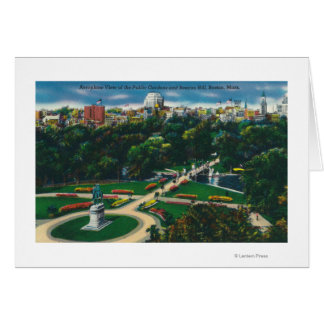Aerial View of the Public Gardens, Beacon Hill Greeting Card