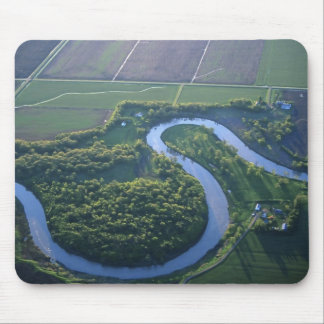 Aerial view of the Red River of the North Mouse Mat