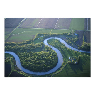 Aerial view of the Red River of the North Photo Print