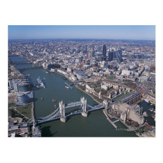 Aerial View of the River Thames Postcard