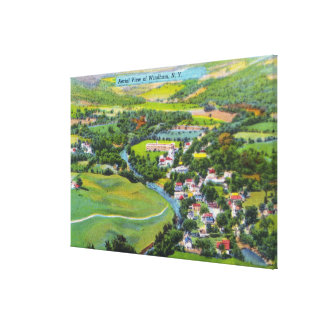 Aerial View of the Town 9 Canvas Print