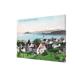 Aerial View of the Town and Lake Ewauna Canvas Print