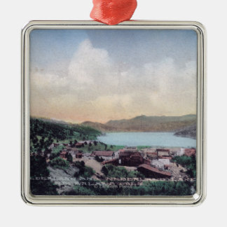 Aerial View of the Town and Nederland Lake Christmas Ornament