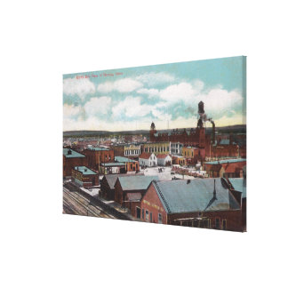 Aerial View of the Town, Train TracksNampa, ID Canvas Print
