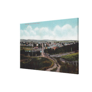 Aerial View of the TownDallas, OR Canvas Print