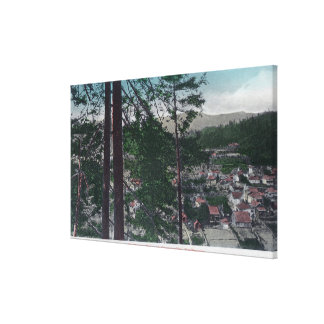 Aerial View of the TownGuerneville, CA Canvas Print