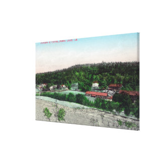 Aerial View of the TownKnowles, CA Stretched Canvas Print