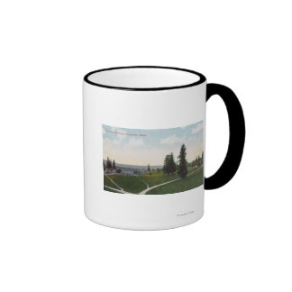 Aerial View of the Vancouver Barracks Coffee Mugs