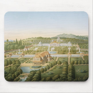 Aerial view of the villa of King Guillaume of Wurt Mouse Mat