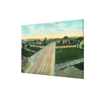 Aerial View of Third Avenue Canvas Print