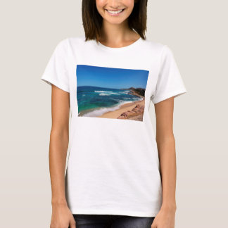 Aerial View Of Tourists Walking On Tropical Beach T-Shirt