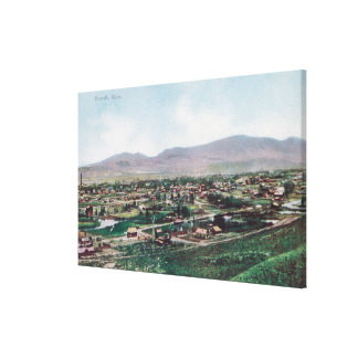 Aerial View of Town from the Hills Canvas Print