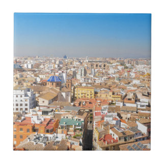Aerial view of Valencia, Spain Tile