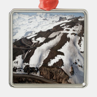Aerial view of Valle Nevado ski resort Chile Christmas Ornament