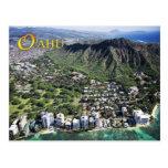 Aerial view of Waikiki Beach and Diamond Head