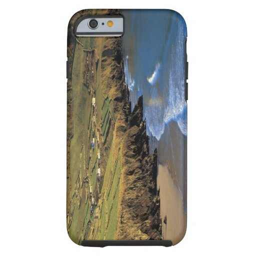 aerial view of waves washing up against a iPhone 6 case