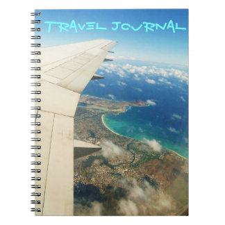 Aerial view over Hawaiian islands travel journal
