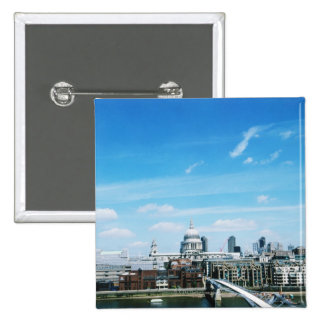 Aeriel View of London 15 Cm Square Badge