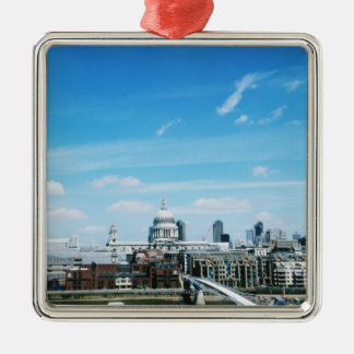 Aeriel View of London Christmas Ornament