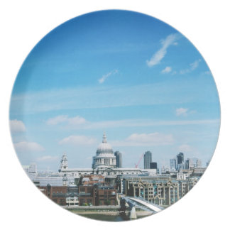 Aeriel View of London Plate