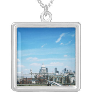 Aeriel View of London Silver Plated Necklace