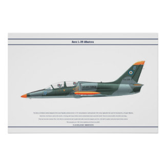 Aero L-39 Uzbekistan Poster