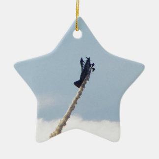 Aerobatic Biplane Ceramic Star Decoration