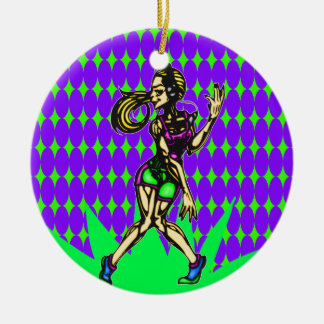 Aerobic Dance Workout Christmas Ornaments