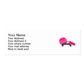 Aerobics equipment pack of skinny business cards
